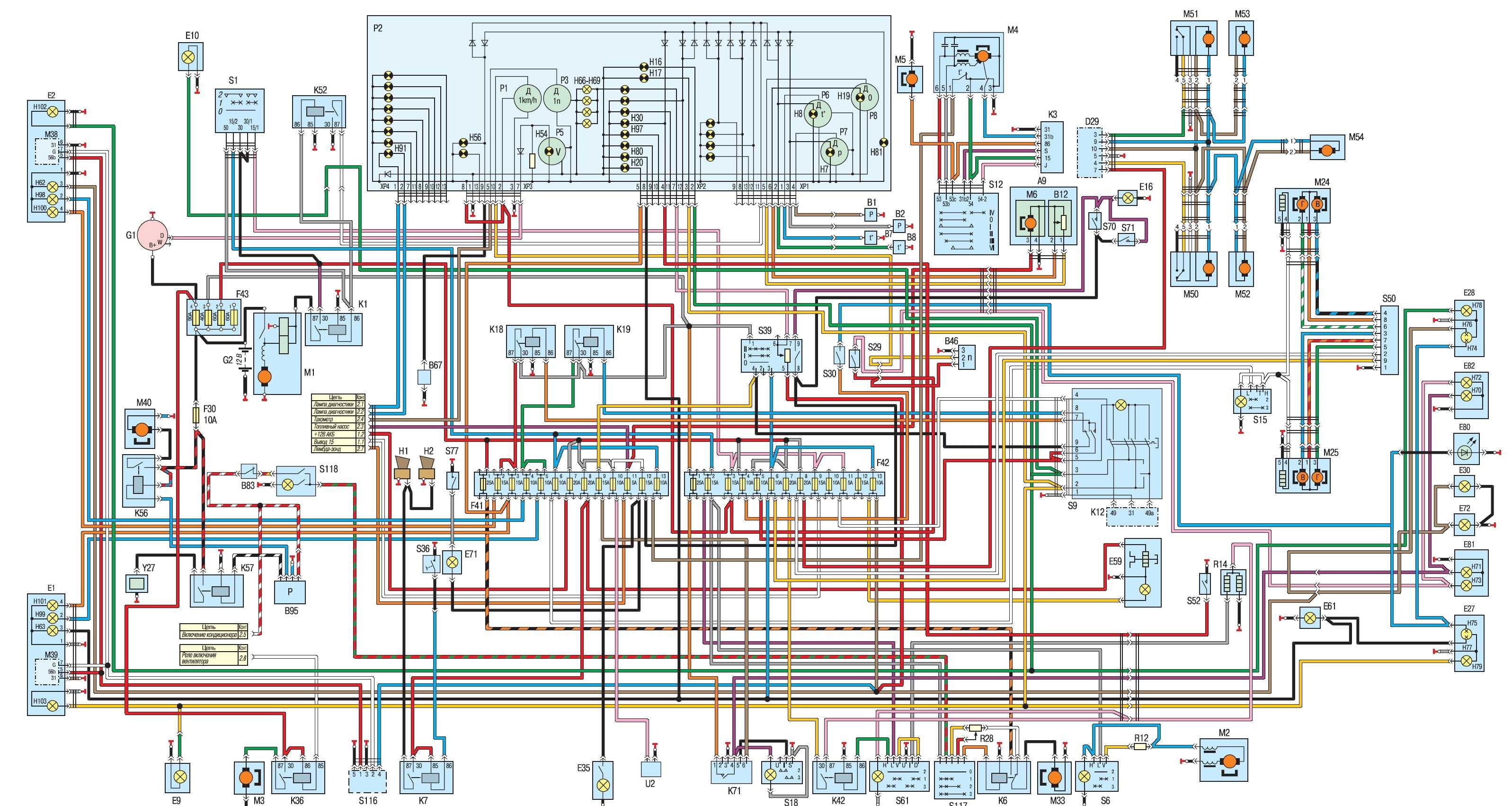 газель год 2000 электро схема